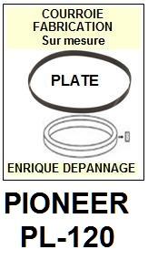 PIONEER PL120 PL-120 <br>Courroie d\'entrainement pour tourne-disques (<b>flat belt</b>)<small> 2016-01</small>