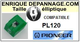 PIONEER<br> PL120 PL-120 Pointe (stylus) elliptique pour tourne-disques <BR><small>sce 2015-08</small>