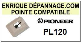 PIONEER PL120 PL-120 <br>Pointe sphérique pour tourne-disques (<B>sphérical stylus</b>)<SMALL> 2016-01</SMALL>