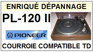 PIONEER PL120II PL120 II <br>Courroie plate d'entrainement tourne-disques (<b>flat belt</b>)<small> 2017 DECEMBRE</small>