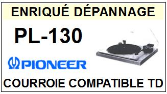 PIONEER-PL130 PL-130-COURROIES-ET-KITS-COURROIES-COMPATIBLES
