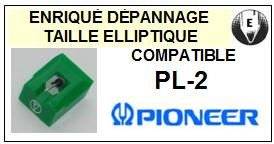PIONEER Platine PL2 PL-2 <br>Pointe diamant elliptique (stylus)<small> 2015-11</small>