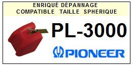 PIONEER<br> PL3000 PL-3000 Pointe (stylus) sphérique pour tourne-disques <BR><small>a 2015-08</small>