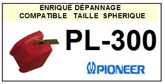 PIONEER PL300 PL-300 <br>Pointe diamant sphérique pour tourne-disques (stylus)<small> 2015-11</small>