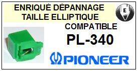 PIONEER<br> PL340 PL-340 (1°montage) Pointe (stylus) diamant elliptique pour tourne-disques<BR><small>sce(1&2) 2015-08</small>