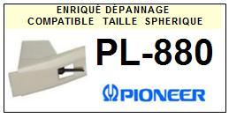 PIONEER<br> PL880 PL-880 Pointe (stylus) sphérique pour tourne-disques <BR><small>se 2015-08</small>