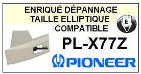PIONEER<br> PLX77Z PL-X77Z Pointe (stylus) elliptique pour tourne-disques<SMALL> 2015-09</small>