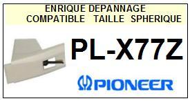 PIONEER PLX77Z PL-X77Z <br>Pointe diamant sphérique pour tourne-disques (stylus)<SMALL> 2015-11</SMALL>
