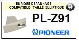 PIONEER<br> PLZ91 PL-Z91 Pointe (stylus) elliptique pour tourne-disques <BR><small>sce 2015-08</small>