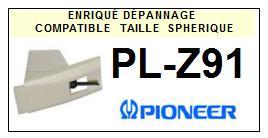 PIONEER<br> PLZ91 PL-Z91 Pointe (stylus) sphérique pour tourne-disques <BR><small>sce 2015-08</small>