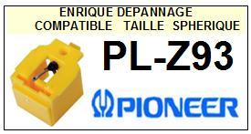 PIONEER PLZ93 PL-Z93 <br>Pointe diamant sphérique (stylus) pour tourne-disques<small> 2015-10</small>