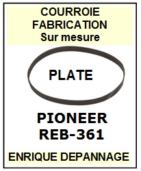 PIONEER REB361 REB-361 <br>courroie référence pioneer (flat belt manufacturer number)<small> 2015-12</small>