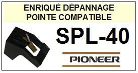 PIONEER SPL40 SPL-40 <br>Pointe sphérique pour tourne-disques (stylus)<small> 2015-10</small>