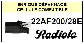 RADIOLA platine 22AF200/28E  Cellule diamant sphérique <BR><SMALL>a 13-12</small>