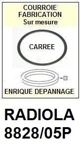 RADIOLA 8828/05P  <BR>courroie d'entrainement tourne-disques (<b>square belt</b>)<small> 2018 FEVRIER</small>
