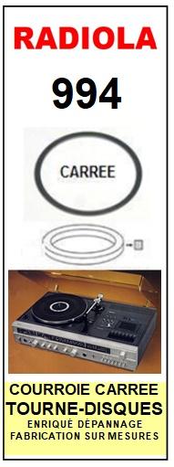 RADIOLA 994 <BR>courroie d\'entrainement pour tourne-disques (<b>square belt</b>)<small> 2016-01</small>