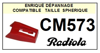 RADIOLA CM573 <br>Pointe diamant sphérique pour tourne-disques (stylus)<SMALL> 2015-10</SMALL>