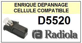 RADIOLA<br> D5520  Cellule (cartridge) pour tourne-disques <BR><SMALL>a 2015-03</small>