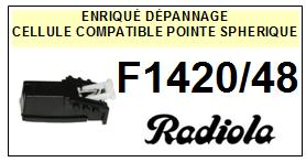 RADIOLA<br> F1420/48 F1420 48 Cellule (cartridge) pour tourne-disques <BR><SMALL>a 2015-05</small>