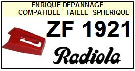 RADIOLA<br> ZF1921  Pointe (stylus) sphérique pour tourne-disques<SMALL> 2015-09</SMALL>