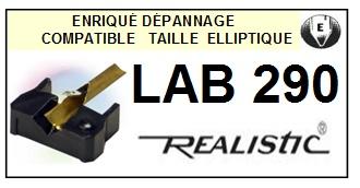 REALISTIC LAB290 LAB-290 <bR>Pointe elliptique pour tourne-disques (<b>elliptical stylus</b>)<SMALL> 2016-01</small>