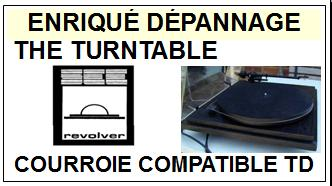 REVOLVER THE TURNTABLE<br> Courroie d\'entrainement pour Tourne-disques (<b>round belt</b>)<small> 2016-01</small>