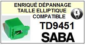 SABA<br> TD9451 Pointe (stylus) elliptique pour tourne-disques<small> 2015-09</small>