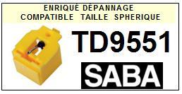 SABA<br> TD9551  Pointe (stylus) elliptique pour tourne-disques <BR><small>sce 2015-08</small>