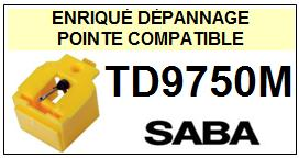 SABA<br> TD9750M Pointe (stylus) sphérique pour tourne-disques<SMALL><small> 2015-09</SMALL></small>