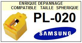 SAMSUNG<br> PL020 PL-020 Pointe (stylus) sphérique pour tourne-disques<small> 2015-09</small>