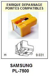 SAMSUNG<br> PL7500 PL-7500 Pointe (stylus) sphérique pour tourne-disques <BR><small>se 2015-07</small>