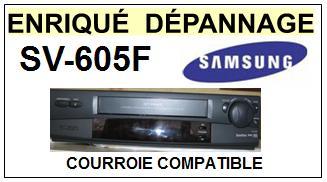 SAMSUNG SV605F SV-605F <br>Courroie pour Magnétoscope (square belt)<small> 2017 NOVEMBRE</small>