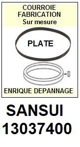 SANSUI 13037400  <br>courroie plate référence sansui (<B>flat belt manufacturer number</B>)<small> 2018 AVRIL</small>