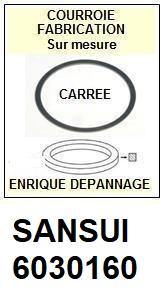 SANSUI 6030160  <BR>Courroie carrée référence sansui (<B>square belt</B> manufacturer number)<small> 2018 MARS</small>