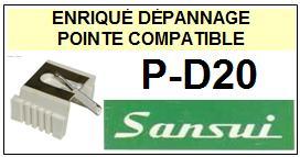 SANSUI<br> PD20 P-D20 (1°montage) Pointe sphérique pour tourne-disques <BR><small>s(1+2) 2015-08</small>