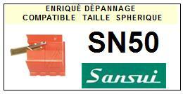 SANSUI<br> SN50 Pointe (stylus) Diamant sphérique <BR><small>a 2015-08</small>