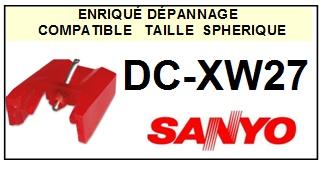 SANYO<br> DCXW27 DC-XW27 Pointe (stylus) sphérique pour tourne-disques<SMALL> 2015-09</SMALL>