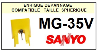 SANYO MG35V MG-35V <br>Pointe Diamant sphérique (stylus)<small> 2015-11</small>
