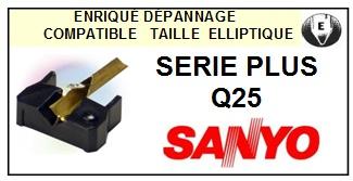 SANYO SERIE PLUS Q25  <bR>Pointe diamant elliptique pour tourne-disques (stylus)<SMALL> 2015-12</small>