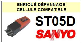 SANYO<br> ST05D  Cellule (cartridge) diamant Sphérique <BR><small>s+cel 2015-08</small>