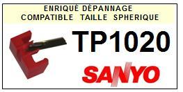SANYO<br> TP1020  Pointe (stylus) sphérique pour tourne-disques <BR><small>a 2015-08</small>