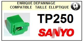 SANYO TP250  <bR>Pointe diamant elliptique pour tourne-disques (stylus)<SMALL> 2015-11</small>