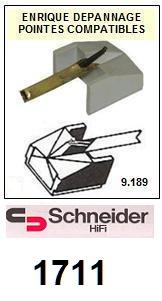 SCHNEIDER 1711 <br>Pointe sphérique pour tourne-disques (stylus)<small> 2015-10</small>
