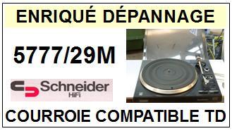 schneider 5777 29m courroie compatible tourne disques 14 5 euros. Black Bedroom Furniture Sets. Home Design Ideas