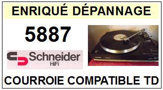 SCHNEIDER 5887 <BR>courroie d\'entrainement pour tourne-disques (<b>square belt</b>)<small> 2016-01</small>
