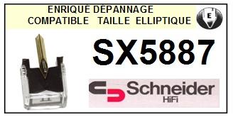 SCHNEIDER SX5887  <bR>Pointe diamant elliptique pour tourne-disques (stylus)<SMALL> 2015-10</small>