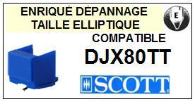 SCOTT<br> DJX80TT DJX 80 TT Pointe (stylus) elliptique pour tourne-disques <BR><small>ce 2015-08</small>
