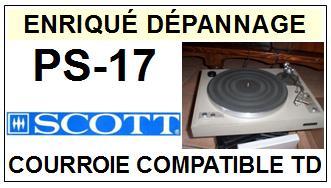 SCOTT-PS17 PS-17-COURROIES-ET-KITS-COURROIES-COMPATIBLES