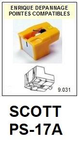 SCOTT-PS17A PS-17A-POINTES-DE-LECTURE-DIAMANTS-SAPHIRS-COMPATIBLES