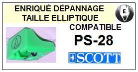 SCOTT<br> PS28 PS-28 Pointe (stylus) elliptique pour tourne-disques <small>2015-09</small>